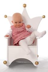 Little princess (Rune T) Tags: pink baby cute girl smile pose fun chair princess quality flash attitude gaze throne sb800 gtaggroup artlibre livingroomnotstudio theme2006inreview favekids