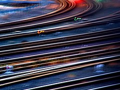 track marks the spot! (mle.punk) Tags: blur lines train emily blurry track traintracks tracks surreal curve paup emilypaup