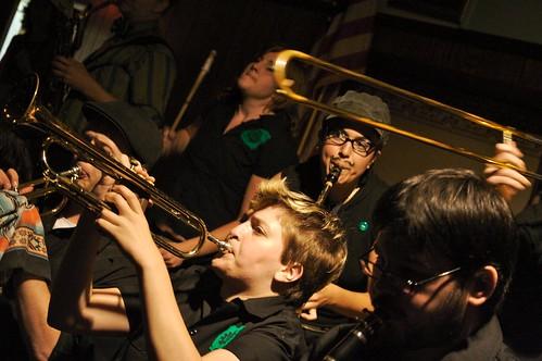 brass band playing music