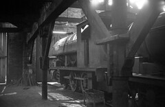 Durham Philadelphia 2nd June 1968 (loose_grip_99) Tags: uk railroad england industry philadelphia train blackwhite mine industrial durham noiretblanc shed railway steam mining depot 1968 coal northeast blancinegre ncb uksteam gassteam