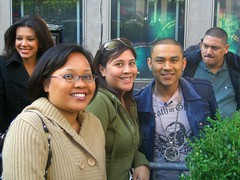 Random-encounter-with-a-celeb-freakout-moment: Bri, Marie & Frankie J (Jason Salas) Tags: nyc kuam rtnda