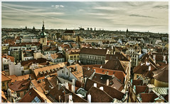 prague skyline (pavelm) Tags: old city autumn skyline town czech prague praha roofs hdr