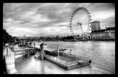 River Thames (wili_hybrid) Tags: city uk trip travel autumn england sky urban blackandwhite bw white holiday black london art fall water beautiful thames architecture clouds river geotagged photography photo yahoo high october europe flickr tour dynamic photos picture londoneye pic 2006 wikipedia imaging mapping range geotag tone hdr hdri westminsterbridge photomatix tonemapped tonemapping year2006 highdynamicrangeimaging dwcffurban