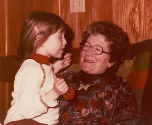 Granny and me, circa 1978-ish.