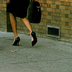 walking after work ( marc_l'esperance) Tags: street woman canada black feet fashion work canon walking eos shoes highheel highheels bc legs candid  2006 skirt afterwork business sidewalk 10d cropped tall kelowna noise briefcase allrightsreserved cml officewear thegallery businessattire canonef70200mmf28lusm ef70200mmf28l canon70200f28l 3wayicon abigfave conradtour2006 wearinghighheels aplusphoto walkinginheels stilletoheels skyscraperheels