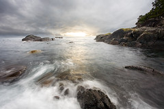 East Sooke Hike (Snorri Gunnarsson) Tags: ocean park sunset sea water rocks long exposure quality smooth overcast hike east f30 trail coastal v600 regional sooke v700 snogun fv40 snogunblogspotcom p1f1