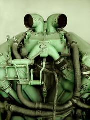 It came from outer space (Sameli) Tags: old green eye face monster metal robot eyes tank metallic space fear alien engine machine aliens motors robots killer engines horror motor monsters droid tanks naama kasvot kakadoo kasvo