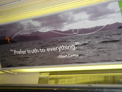 """""""Prefer truth to everything"""" (Lodigs) Tags: sign 7train camus"""