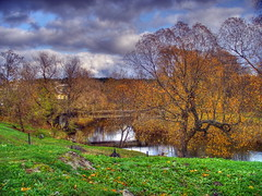 Prita river @ Autumn (dgaponenko) Tags: autumn tree clouds river scenery estonia hdr tallin hdri talinn mytop pirita talin 3xp photomatix mytop5