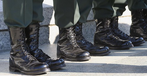 leather uniform boots military corcoran