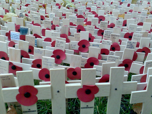 The field of remembrance at Westminster Abbey