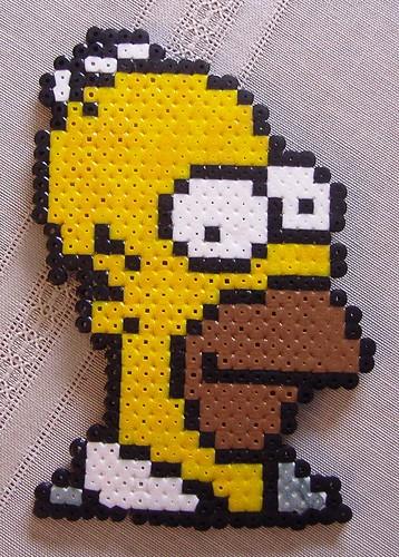 Perler Homer Simpson