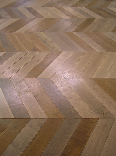 How to make a herringbone floor
