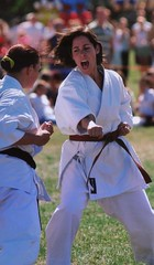 Karate spirit (pawprintpalscouk) Tags: girl fight spirit attack karate dojo defend kiai
