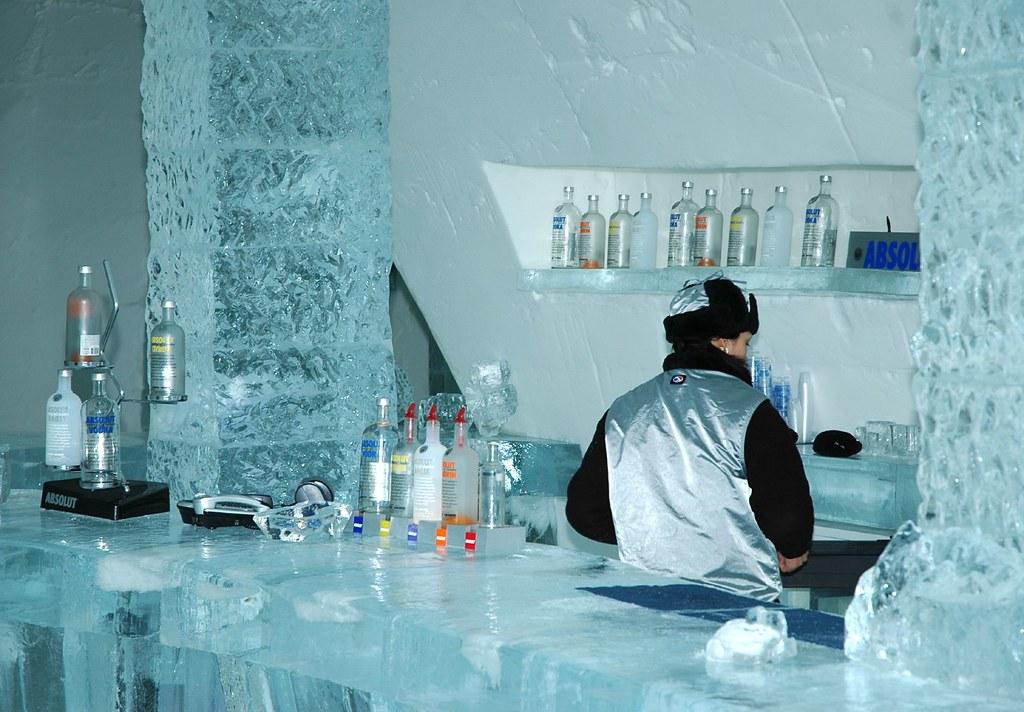 Quebec City Ice Hotel Bar - Jan 06