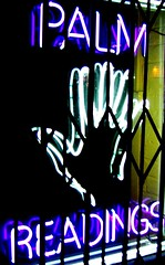 read the palms (Darwin Bell) Tags: sanfrancisco sign neon purple afterdark sfchronicle96hrs