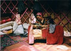 baby inside yurt (mm-j) Tags: baby mother yurt kyrgyzstan cradle alai