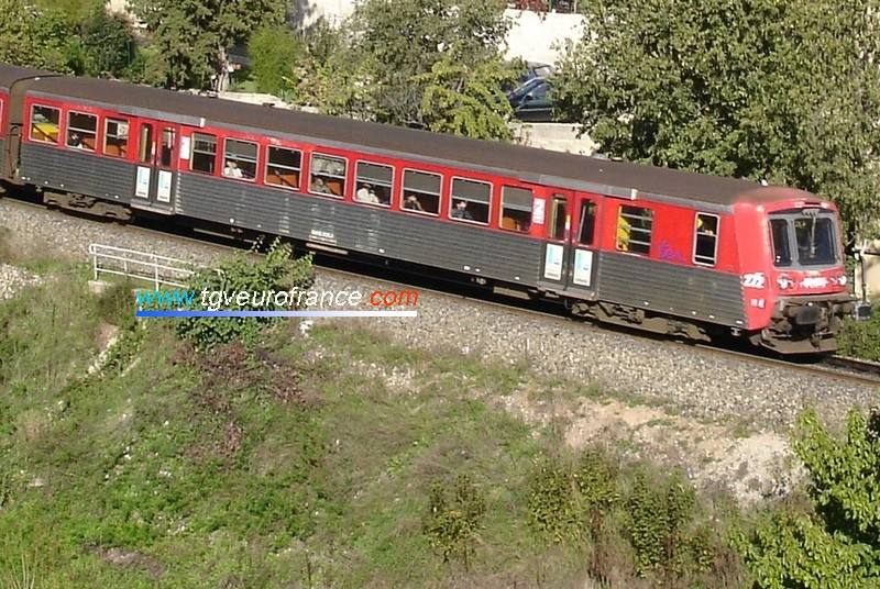 Voiture pilote d'une rame RRR SNCF (ex Haute-Normandie) aujourd'hui affectée à la Région PACA