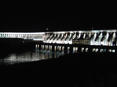 Lights of the Itaipu dam, Brazil