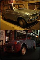 Voitures (charledouard) Tags: old paris cars car citroen 15 citron voiture renault 2cv oldies 4l voitures vieille oldy dyptique paris15