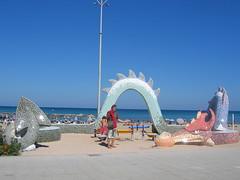 Slayer | Penis Cola (mattfordham) Tags: sculpture beach spain dragon mosaic mf peniscola