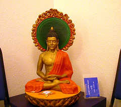 Buddha in reception room