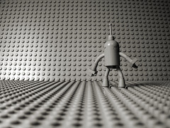 this is Roy... Roy the killbot (olo) Tags: light blackandwhite bw roy fun toys grey robot kill sad lego gray explore minifig killbot foitsop markd4moo