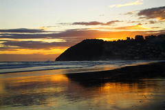 Liquid gold (borealnz) Tags: sunset newzealand beach bravo searchthebest stclair interestingness1 nz otago dunedin magicdonkey otagonz specland specnature anawesomeshot superaplus aplusphoto borealnz
