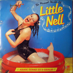 The Musical World of Little Nell (jovike) Tags: blue music woman girl vinyl bubbles colores cover single record disc swimsuit sleeve paddlingpool 45rpm soapsuds