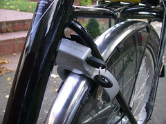 built in bike lock and skirt guard