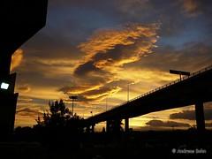 Wolken über dem Distribuidor Vial