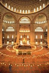 Di Dalam Selimiye Mosque, Edirne, Turkey