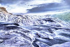 Glacier River (Stuck in Customs) Tags: blue white snow cold ice nature colors clouds reflections river landscape photography penguin waterfall iceland cool nikon rocks photographer purple earth d2x hard freezing super scene squeeze rapids glacier glaciers summit icy gulfoss hdr outstanding highquality stuckincustoms treyratcliff