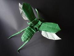 Katydid (hugoakitaya) Tags: original origami katydid origamichallenge origamichallenge1