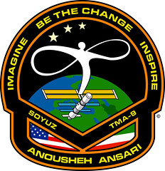 Anousheh Ansari Spacesuit Patch (scientaestubique) Tags: space suit imagine patch inspire spacesuit xprize ansari soyuz anoushehansari anousheh bethechange tma9 spacesuitpatch