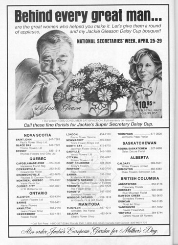 Vintage Ad #73 - Jackie Gleason Daisy Cup Bouquet