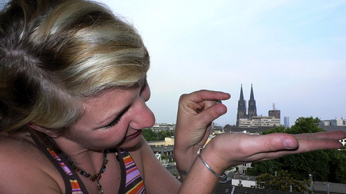 Huge Martina and the little Cologne Dome