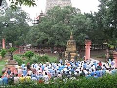 Mahabodhi Temple   mass meditation 2