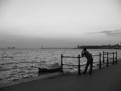 talking (stefg74) Tags: sunset sea bw water port bay blackwhite phone telephone cellphone cell free talk stranger greece steven talking stg gst stefano stefanos salonica phonetalk freeuse  ysplix  stggr1    justrss justrsscom wwwjustrsscom httpwwwjustrsscom stefg74