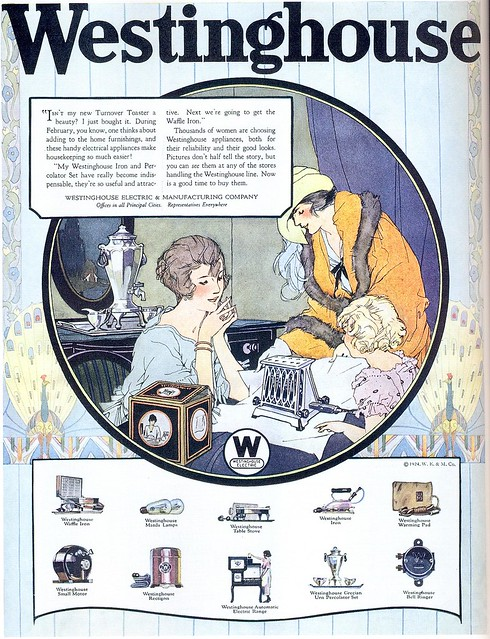 Westinghouse Appliances ad, 1924