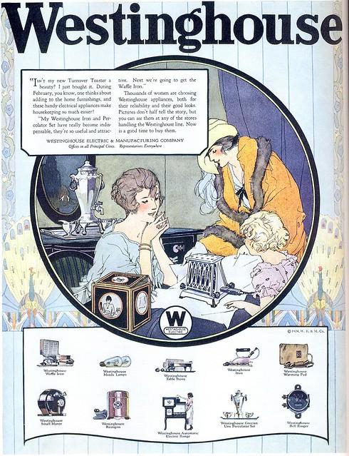 Westinghouse Time Capsules: Vintage Ads: Westinghouse Appliances, 1924