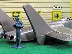 Nervous Pilot (Marxchivist) Tags: airplane toy toys jet marx airforce pilot toysoldiers toyairplane marxtoys toyjet