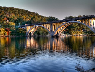 Caught God painting the Taneycomo bridge with light.