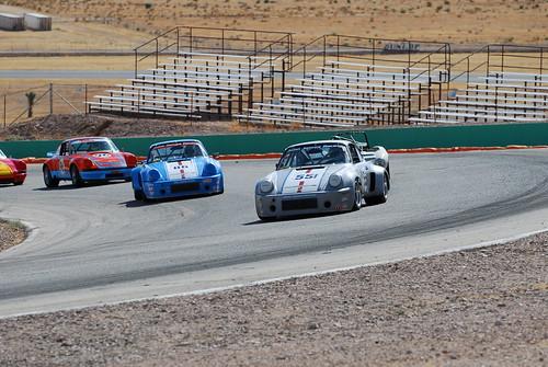 Vintage Porsche club racers