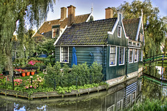 Fairy Tale (Stuck in Customs) Tags: blue roof house holland netherlands fairytale canal quaint weepingwillow idyllic hdr