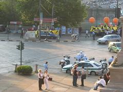 Demonstration (Scoobyfoo) Tags: balloons torino james idii nick police demonstration piazza alejandro ivrea haiyan hayat mellis stephi interactiondesigninstituteivrea