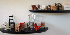 Miniature chair collection. (suZen.) Tags: red brown miniatures interestingness chair d70 chairs nikond70 mini shelf collection vitra shelves raine takeaseat interestingness94 i500 explore18oct2006 utatacollection