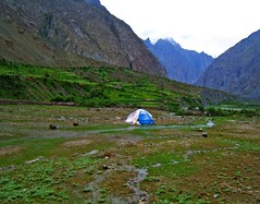 A rainy morning in Mitran Das (Kaafoor) Tags: trip morning travel blue camping pakistan summer lake mountains green beautiful beauty rain north visit best valley pakistani adeel distortions iloveit northernarea theworldsbest greaan pakistaniphotographer karomber karomberexpedition karachite mitrandas ilovetraveling ihavebeentothisplace