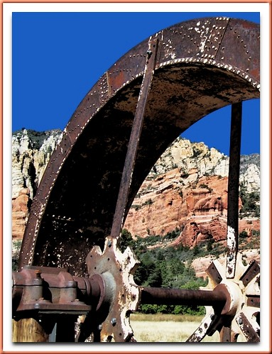Water Wheel At Slide Rock