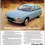 Citroen GS Advert